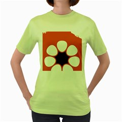 Flag Map Of Northern Territory Women s Green T Shirt