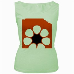 Flag Map Of Northern Territory Women s Green Tank Top