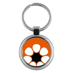 Flag Map Of Northern Territory Key Chains (round)