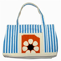 Flag Map Of Northern Territory Striped Blue Tote Bag
