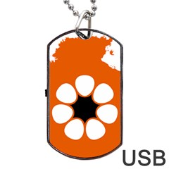 Flag Map Of Northern Territory Dog Tag Usb Flash (two Sides)
