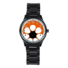 Flag Map Of Northern Territory Stainless Steel Round Watch