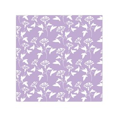 Floral In Crocus Petal  Small Satin Scarf (square)