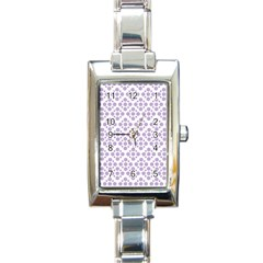 Floral Dot Series   Crocus Petal And White  Rectangle Italian Charm Watch