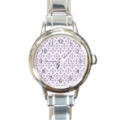 Floral Dot Series - Crocus Petal And White  Round Italian Charm Watch by TimelessFashion