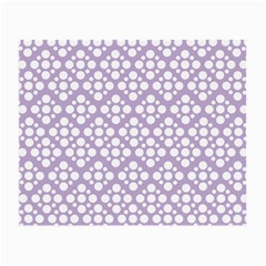 Floral Dot Series - White And Crocus Petal  Small Glasses Cloth (2-side) by TimelessFashion