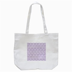 Floral Dot Series   White And Crocus Petal  Tote Bag (white)