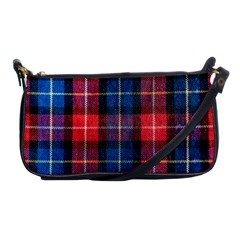Blue & Red Plaid Shoulder Clutch Bag by WensdaiAmbrose