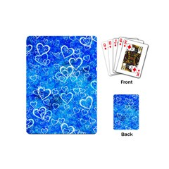 Valentine Heart Love Blue Playing Cards (mini)