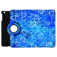 Valentine Heart Love Blue Apple Ipad Mini Flip 360 Case by Mariart