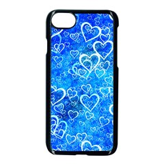 Valentine Heart Love Blue Apple Iphone 8 Seamless Case (black) by Mariart