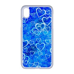 Valentine Heart Love Blue Apple Iphone Xr Seamless Case (white)