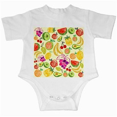 Seamless Pattern Fruit Infant Creepers