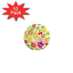 Seamless Pattern Fruit 1  Mini Magnet (10 Pack)  by Mariart