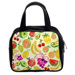 Seamless Pattern Fruit Classic Handbag (two Sides) by Mariart