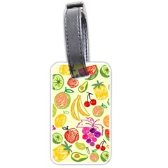 Seamless Pattern Fruit Luggage Tags (one Side)