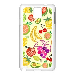 Seamless Pattern Fruit Samsung Galaxy Note 3 N9005 Case (white) by Mariart