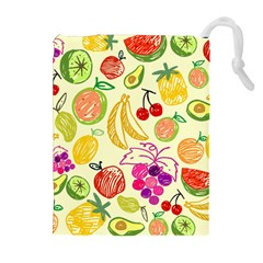 Seamless Pattern Fruit Drawstring Pouch (xl) by Mariart