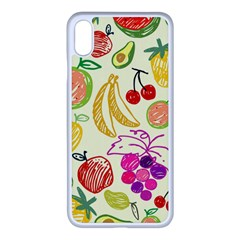 Seamless Pattern Fruit Apple Iphone Xs Max Seamless Case (white) by Mariart