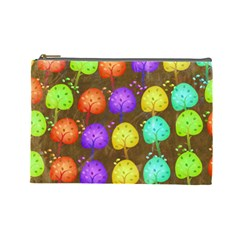 Textured Grunge Background Pattern Cosmetic Bag (large)