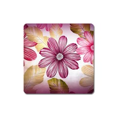 Star Flower Square Magnet by Mariart