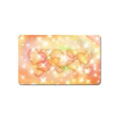 Valentine Heart Love Pink Magnet (name Card) by Mariart