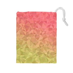Triangle Polygon Drawstring Pouch (large)