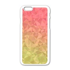 Triangle Polygon Apple Iphone 6/6s White Enamel Case