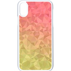 Triangle Polygon Apple Iphone Xs Seamless Case (white)