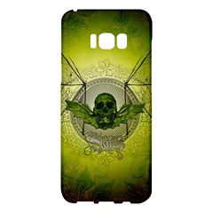 Awesome Creepy Skull With Wings Samsung Galaxy S8 Plus Hardshell Case  by FantasyWorld7
