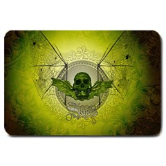 Awesome Creepy Skull With Wings Large Doormat