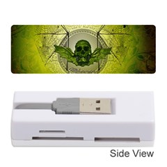 Awesome Creepy Skull With Wings Memory Card Reader (stick)
