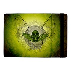 Awesome Creepy Skull With Wings Samsung Galaxy Tab Pro 10 1  Flip Case by FantasyWorld7