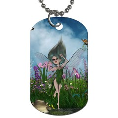 Cute Little Fairy Dog Tag (two Sides) by FantasyWorld7