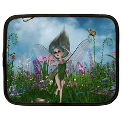 Cute Little Fairy Netbook Case (large)