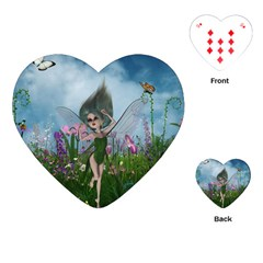 Cute Little Fairy Playing Cards (heart)