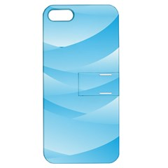 Waves Background Apple Iphone 5 Hardshell Case With Stand
