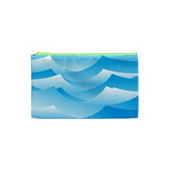 Waves Background Cosmetic Bag (xs)