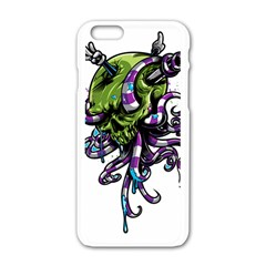Tentacle Skull Apple Iphone 6/6s White Enamel Case by Jojostore