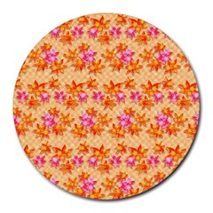 Star Leaf Autumnal Leaves Round Mousepads by Jojostore