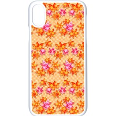 Star Leaf Autumnal Leaves Apple Iphone Xs Seamless Case (white)