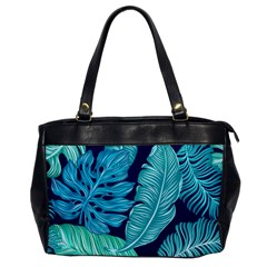Tropical Greens Leaves Banana Oversize Office Handbag by Mariart