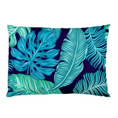 Tropical Greens Leaves Banana Pillow Case (two Sides) by Mariart