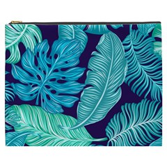 Tropical Greens Leaves Banana Cosmetic Bag (xxxl) by Mariart