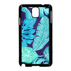 Tropical Greens Leaves Banana Samsung Galaxy Note 3 Neo Hardshell Case (black)