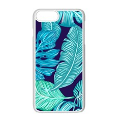 Tropical Greens Leaves Banana Apple Iphone 7 Plus Seamless Case (white) by Mariart
