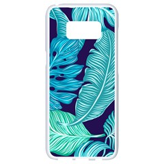 Tropical Greens Leaves Banana Samsung Galaxy S8 White Seamless Case by Mariart