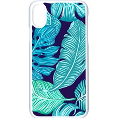 Tropical Greens Leaves Banana Apple Iphone Xs Seamless Case (white) by Mariart