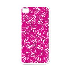 Fancy Floral Pattern Apple Iphone 4 Case (white) by tarastyle