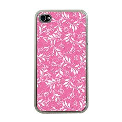 Fancy Floral Pattern Apple Iphone 4 Case (clear)